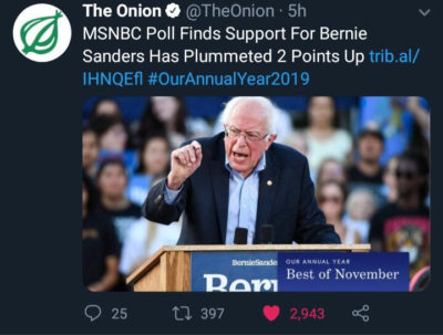 The Onion gets it