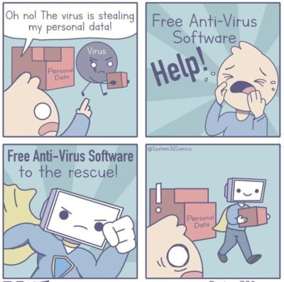 Ah, anti virus..