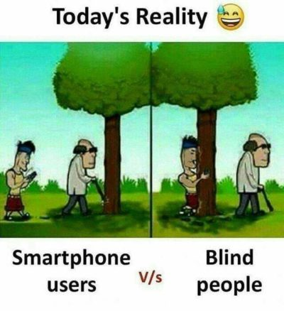 Phone bad, blind good?