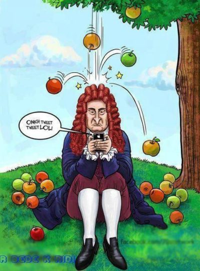 Sir Isaac Newton is a millenial