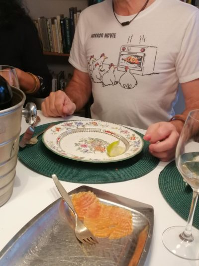 My uncle serving boomer humor at the Christmas table