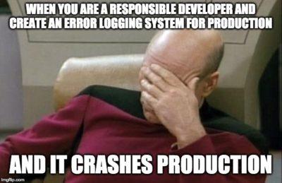 I crashed production today