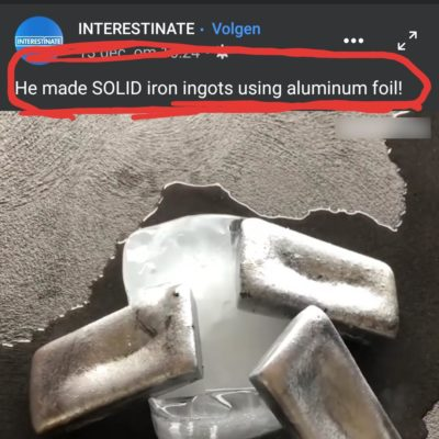 Too bad he couldn't make golden ingots