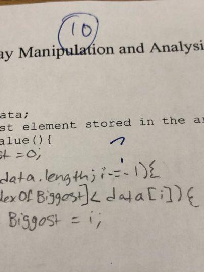 my APCS teacher didn't like the i-=-1