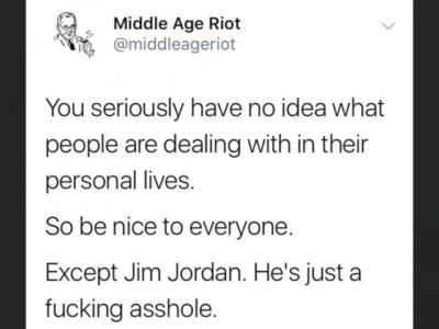Be nice to everyone…