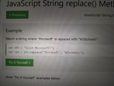 Damn W3Schools I see you