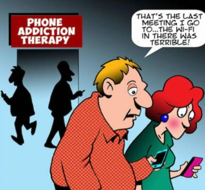 Boomers addicted to phone?