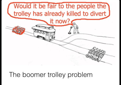 The Boomer Trolley Problem