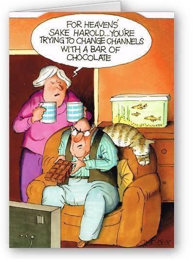 Haha old people have bad eyesight