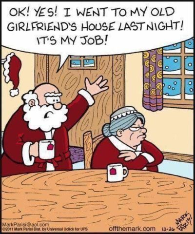 Husband bad, even when it's santa.