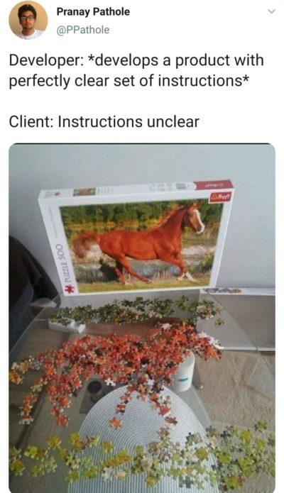 Client always screws it up