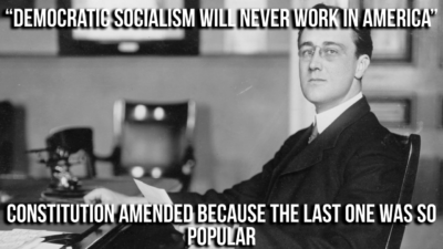 AmERIcA WiLL NeVeR eLecT a DemOCratIC SoCiALisT