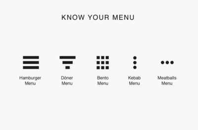 Know your menu (buttons)