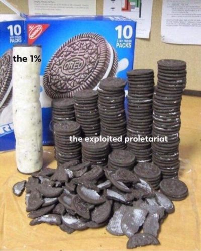 Class struggle explained with Oreos