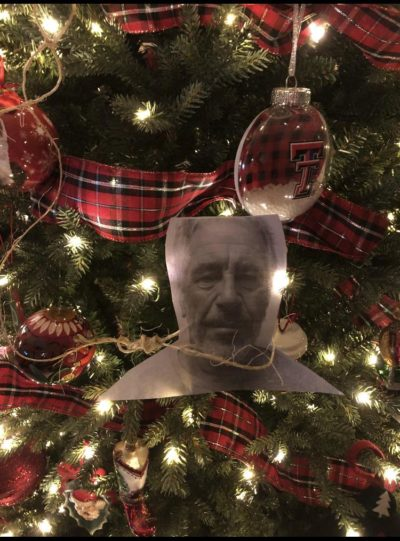 Any ideas on how this got on my Christmas tree? Because I'm pretty sure it didn't hang itself.