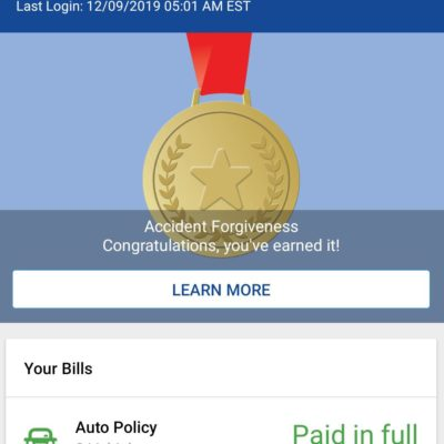 Got hit by a drink driver on the freeway 90 minutes ago, not injured. Officer asked for proof of insurance and this greets me when I open the insurance app.