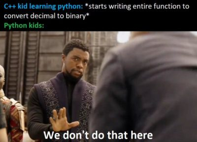 Laughs in very high-level programming language