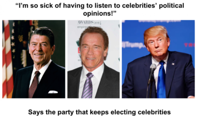 Sick of celebrities!