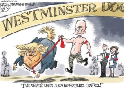 Putting on a Dog and Putin Show