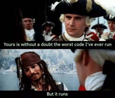 But it runs