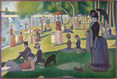 I hate to sound dotty, but I like Georges Seurat.