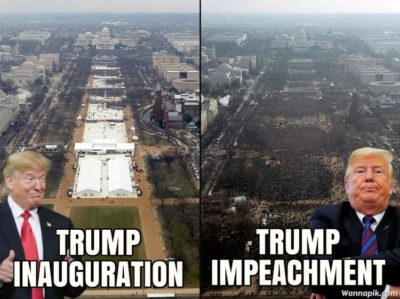 He'll probably flex on his impeachment crowed tho