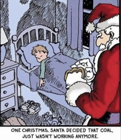 Even Santa keeps children in check