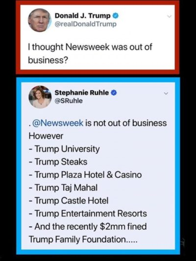 Newsweek is ok Donald, you're probably thinking of some other business