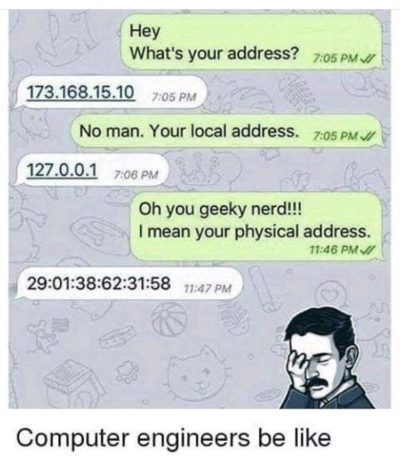 I live at 127.0.0.1