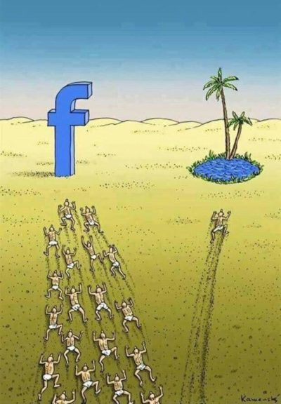 Water good. Facebook bad.