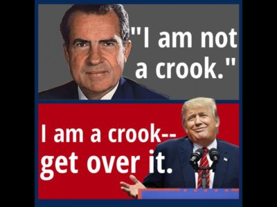 Many people are saying I'm the best crook ever
