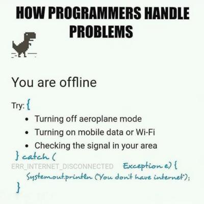 Problem Handling done