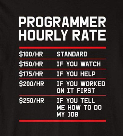 Programmer hourly rate!
