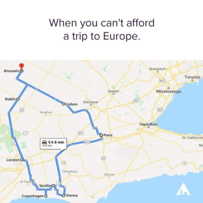 When you can't afford a trip to Europe [HUMOUR]