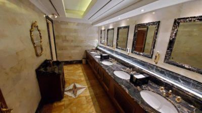 The bathroom in my hotel lobby is worth more than my car…