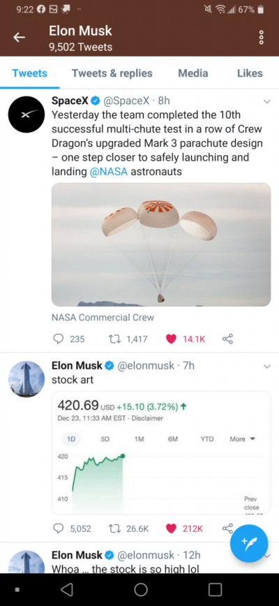 The amount of likes between the two posts.