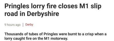 Burnt pringles