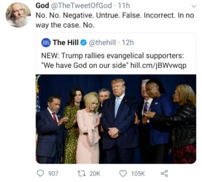"""We have God on our side."""