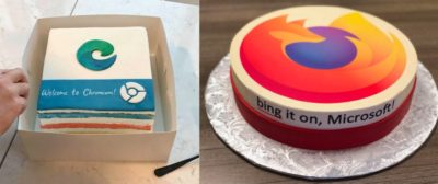 Both Google and Firefox sent cakes to Microsoft's Edge team