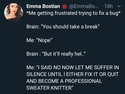I guess I'll probably have to become a sweater knitter…
