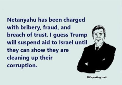 Netanyahu has been charged…