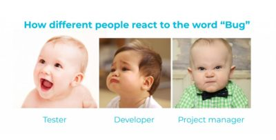 """How different people react to the word """"Bug"""""""