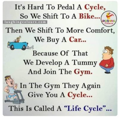 Cycle good car bad