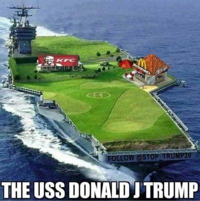 The USS Donald J Trump