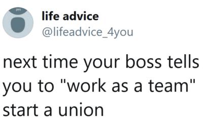 Work as a team
