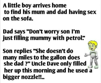 Typical uncle Dave…