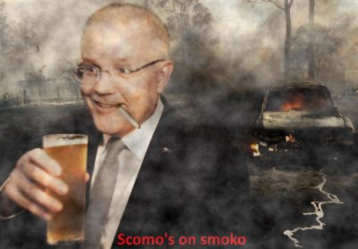 DEEPFIRED: Australian PM Scott Morrison known as Scomo caught taking another break