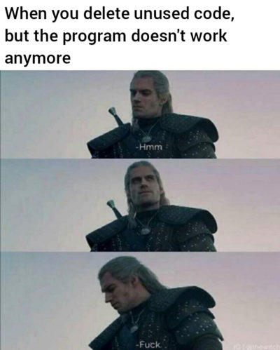 Every programmer knows that feeling