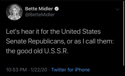 Bette Midler's slam dunk