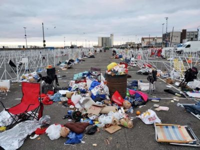 How trump supporters left Wildwood Nj. Disgusting.